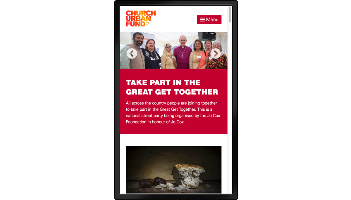 Church Urban Fund website – copywriting and creative direction