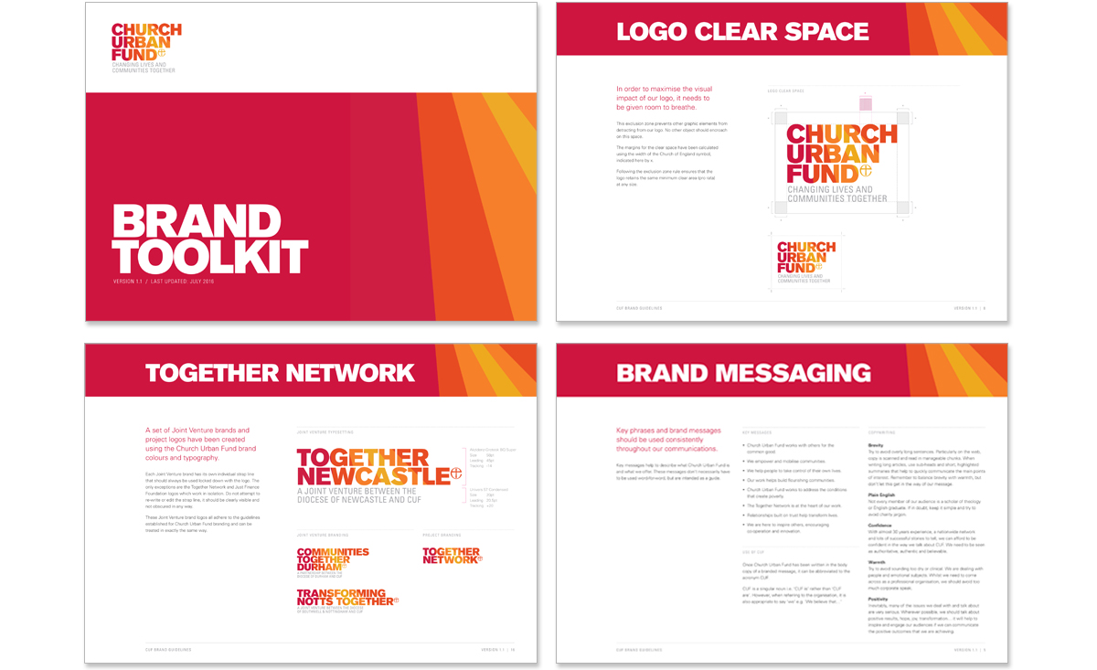 Church Urban Fund brand guidelines – copywriting and creative direction