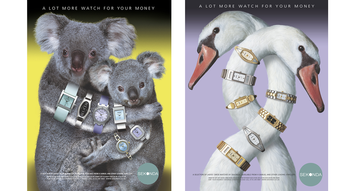 Sekonda Koala & Swan – concept, copywriting and art direction