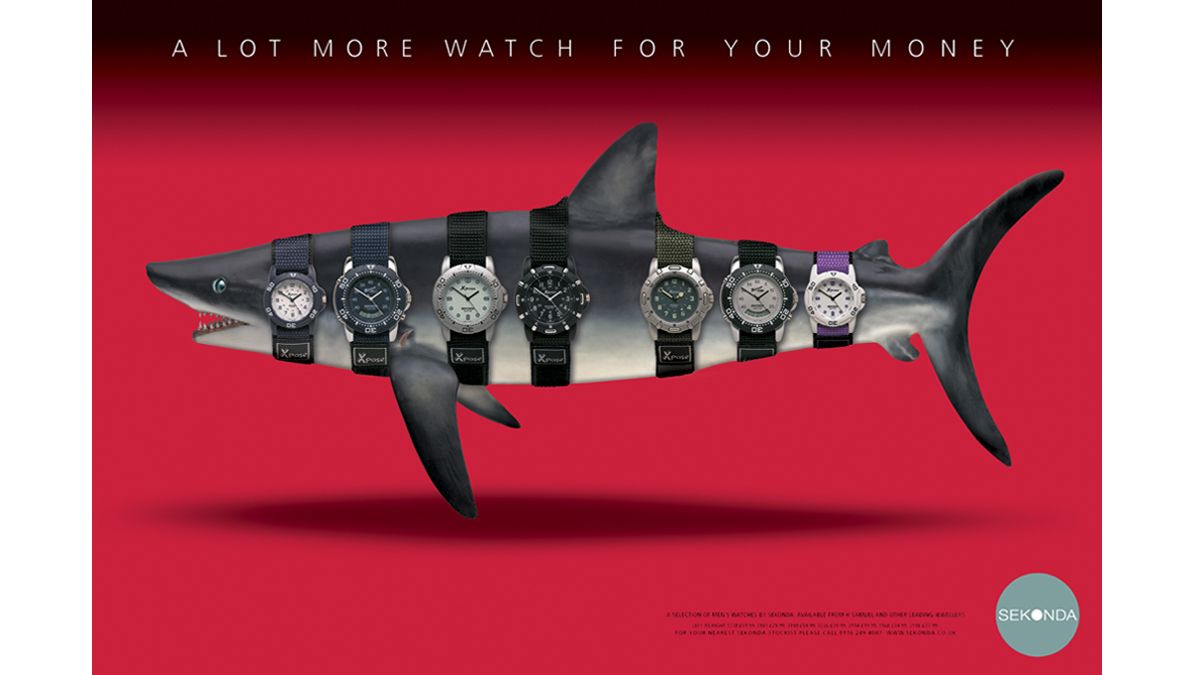 Sekonda Shark – concept, copywriting and art direction