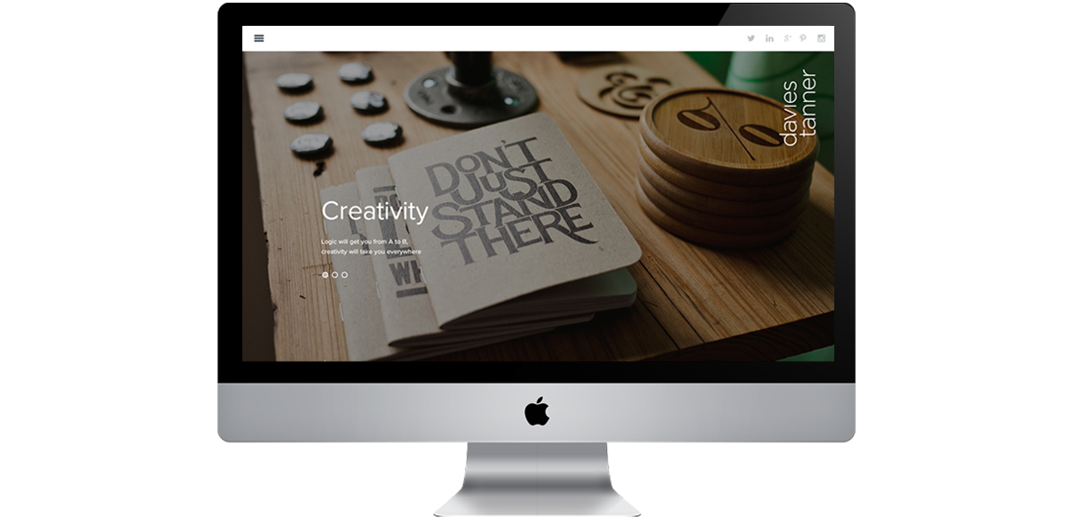 Davies Tanner rebrand and website HOME – copywriting and creative direction