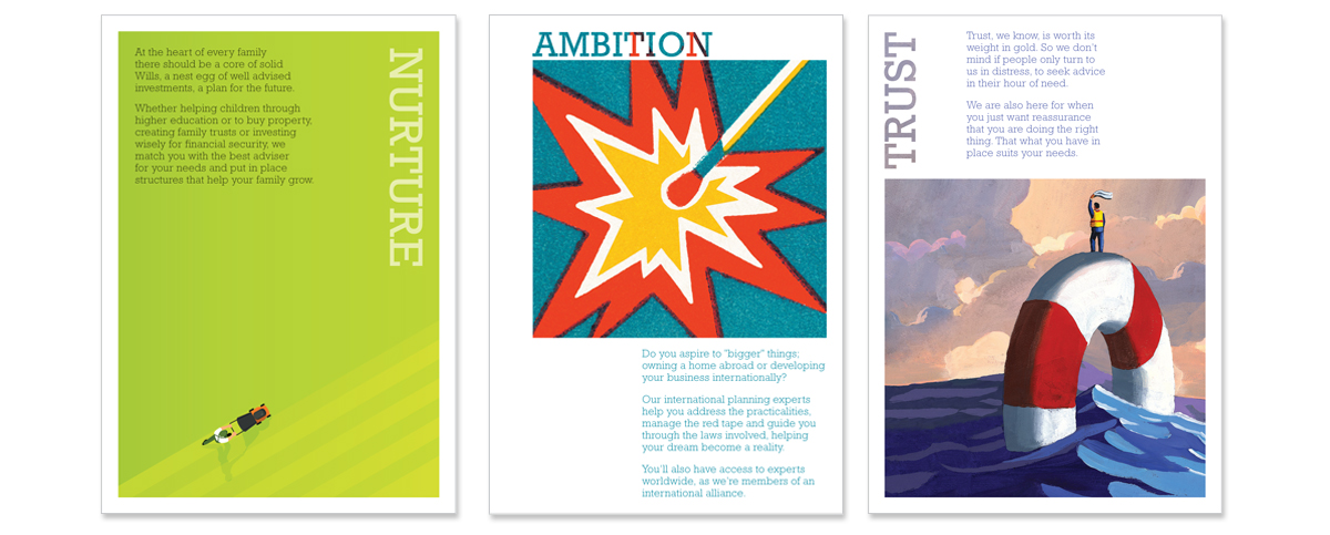 Cripps Kings Hill Mailer Nurture_Ambition_Trust – Concepts, copywriting, art direction and creative direction
