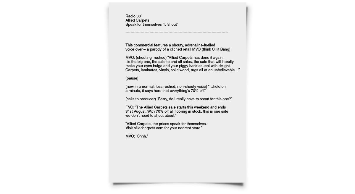 Radio scripts • copywriting for radio advertising • jonathan