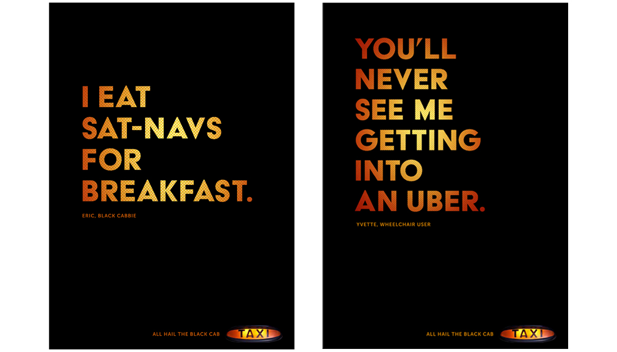 Black Cabs – Integrated advertising creative campaign 2