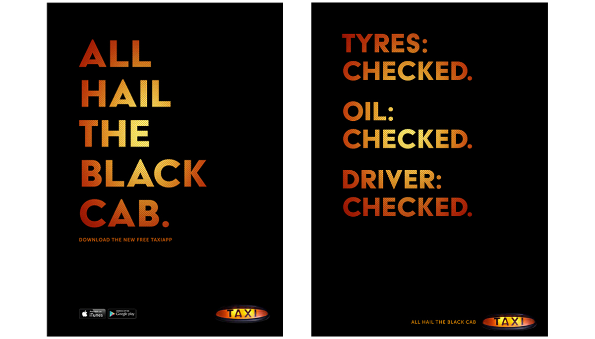 Black Cabs – Integrated advertising creative campaign 1