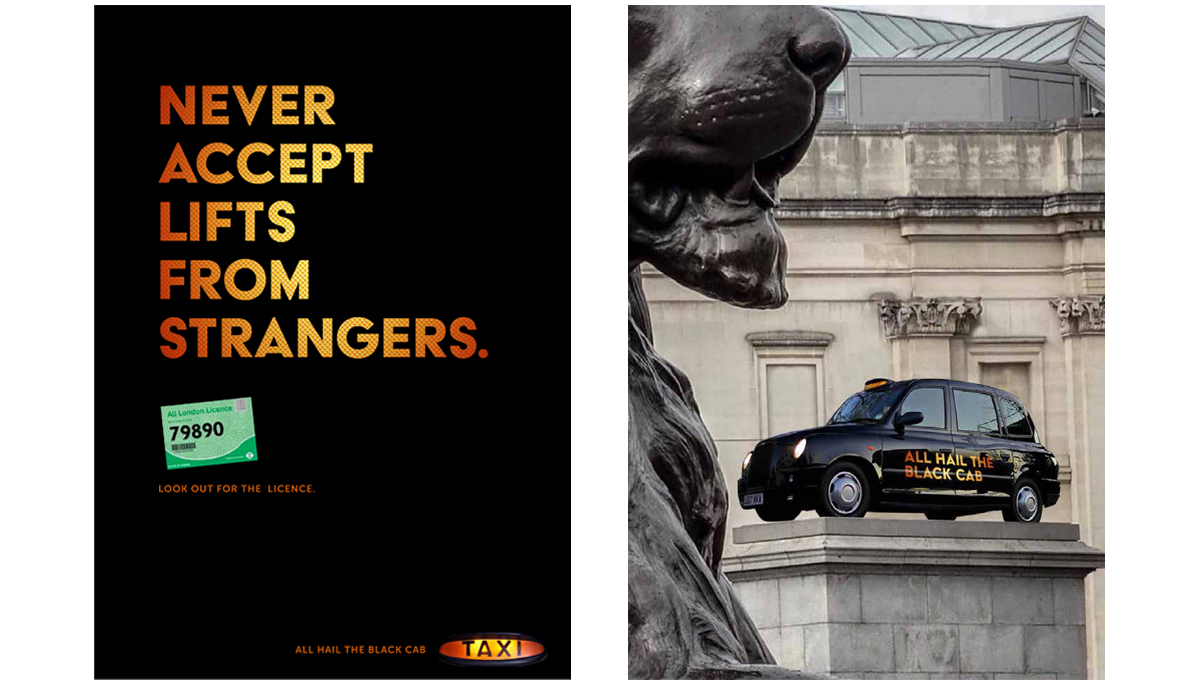 Black Cabs – Integrated advertising creative campaign 3