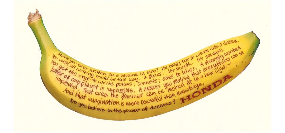 Bryce Groves Advertising Art Director – Honda Banana