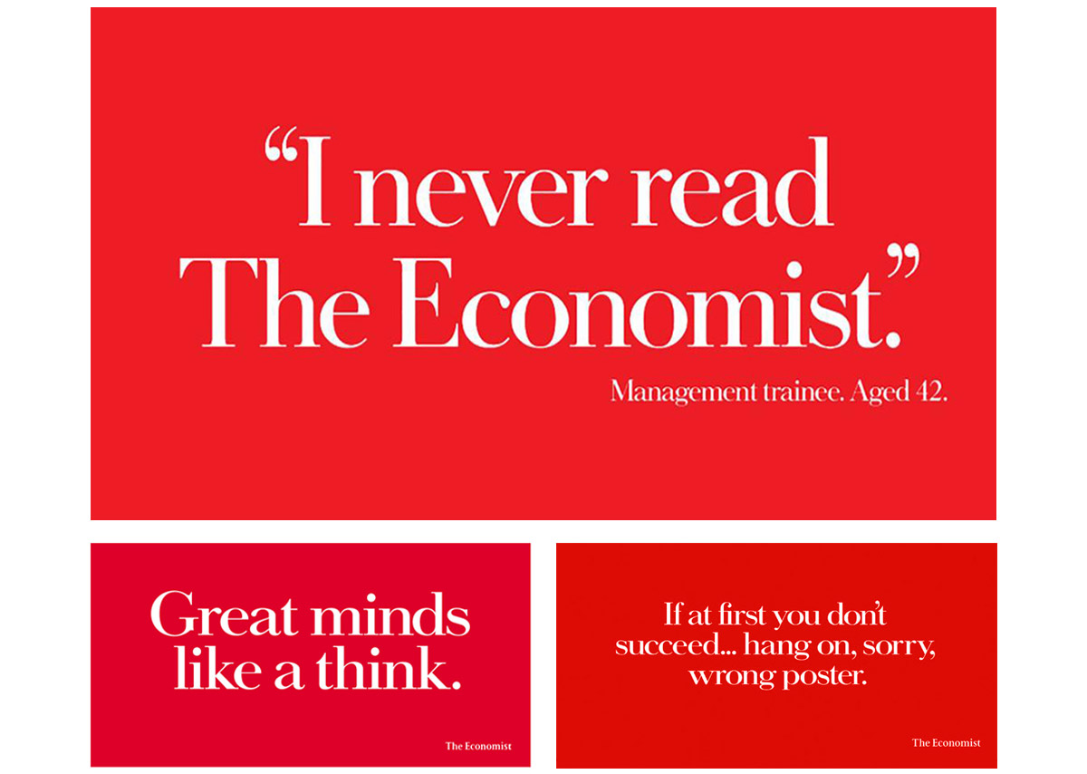 The Blog of Jonathan Wilcock Freelance Copywriter Jim Archer Economist posters