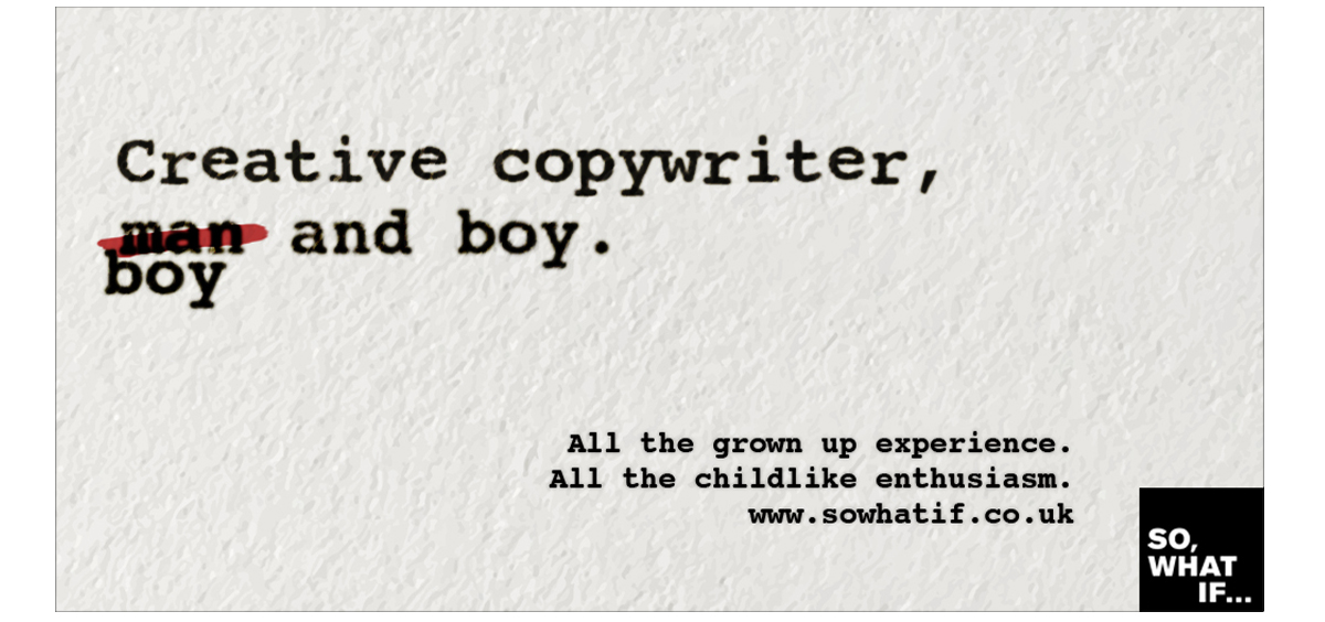Copywriting: worst client in the world – boy