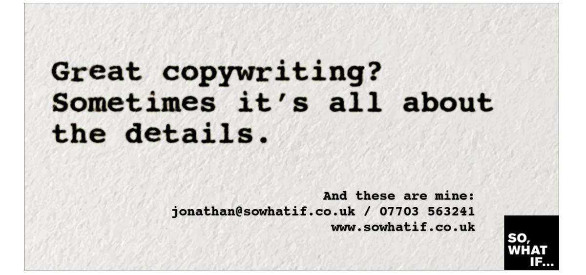 Copywriting: worst client in the world – details