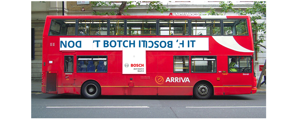 Bosch Integrated advertising campaign Bus Side 1 – Jonathan Wilcock