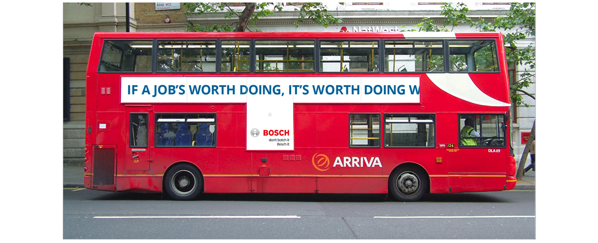 Bosch Integrated advertising campaign Bus Side 2 – Jonathan Wilcock