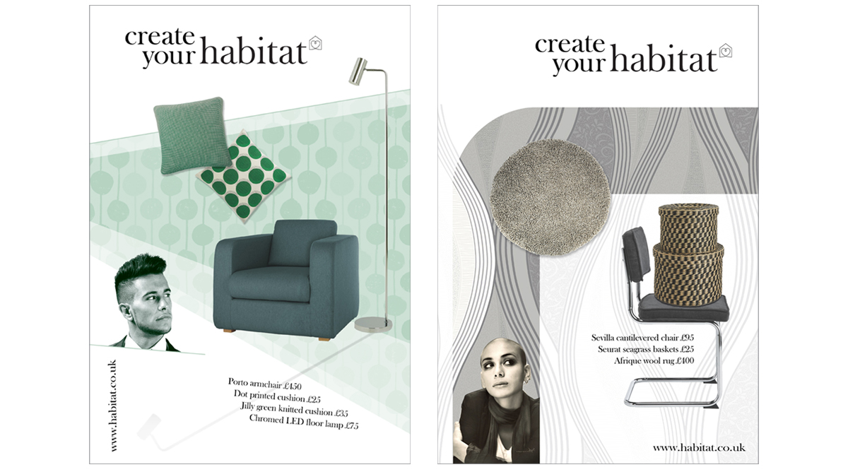 Habitat Campaign concepts 2 – copywriting and art direction Jonathan Wilcock