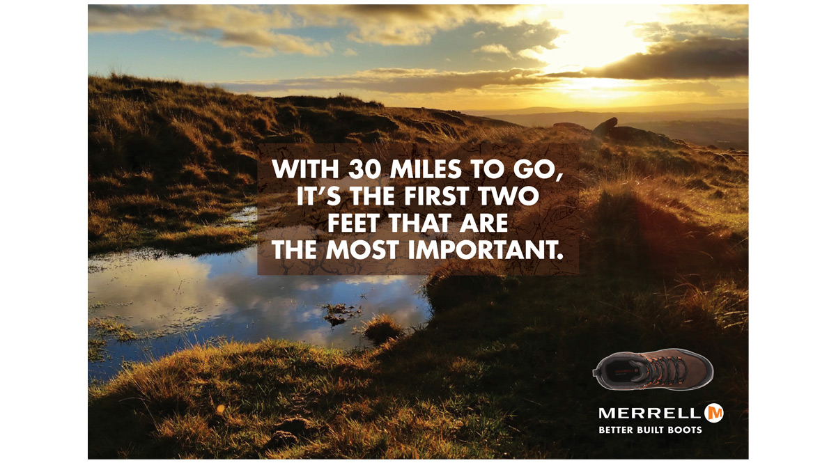 Merrell 1 advertising concepts and copywriting – Jonathan Wilcock