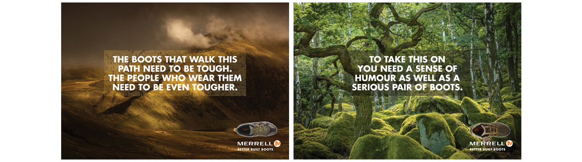 Merrell 3 advertising concepts and copywriting – Jonathan Wilcock
