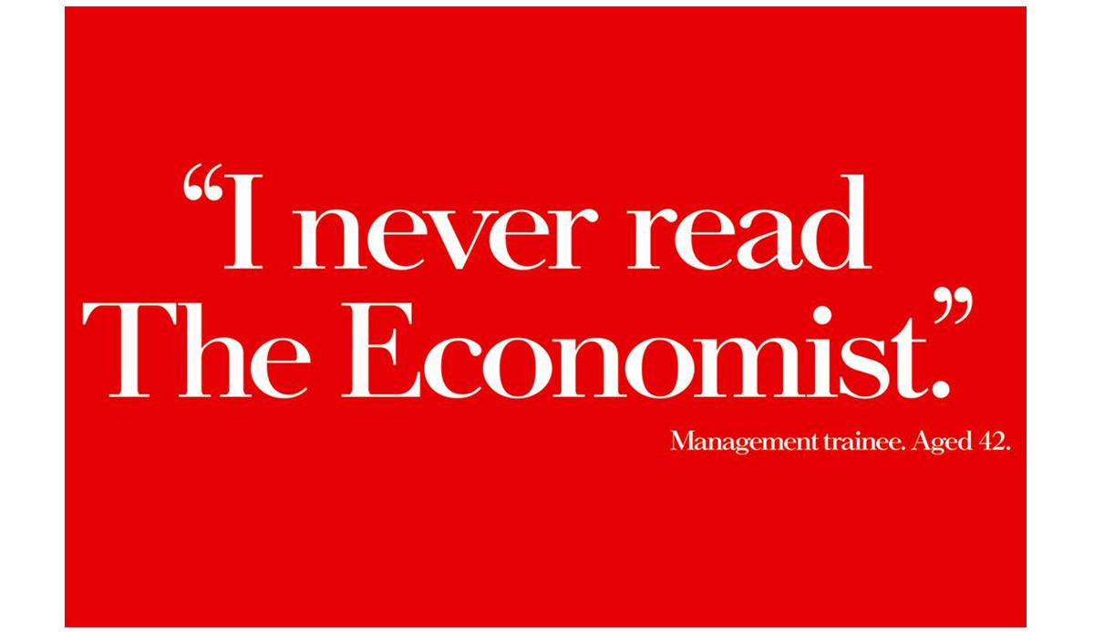 Economist Poster – Creative copywriting – Jonathan Wilcock
